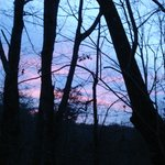 Our sunset from the Yurt's deck