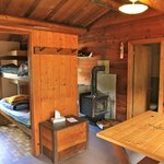 Inside lakeview cabin