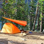 Camping in the nearby provincial campground