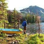 Hiking around Quiniscoe Lake