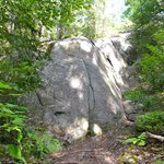 One of the most impressive boulders along the trail