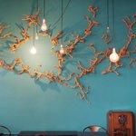 Nice wall art - each light bulb is different