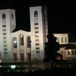chiesa di Medjugorie di notte