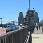 Across the bridge to the pylon