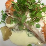 Salmon fillet and spinach with tartare ,