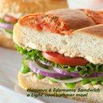 Hummus and Edamame Sandwich