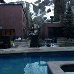 From the jacuzzi facing Aspen Mountain.