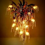 the stunning chandelier, made by our resident artist!