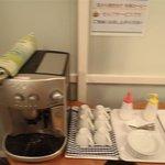 コーヒーのサービスがあります。
