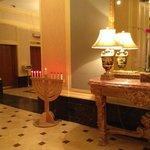 lobby Menorah during Chanukah