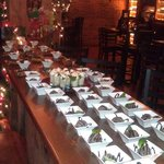 Christmas party desert bar
