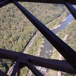 The amazing bird's eye view from the bridge
