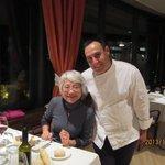 Junto con el Jefe de Cocina en el Cenador de Canonigos