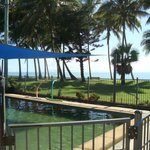 View from Unit1 over pool tothe beach