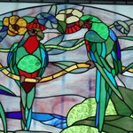 tropical stained glass