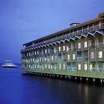 Edgewater Hotel on the waterfront.