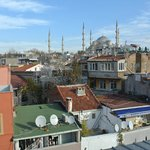 Вид с террасы на крыше
