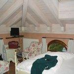 une des chambre sous le toit