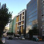 the blue-yellow hotel is the Citadines Shinjuku
