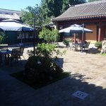 Courtyard outside rooms