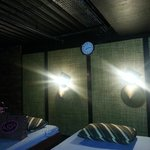 Massage Room - those hats you see just below the lights will cover da lights while u hv a gd mas