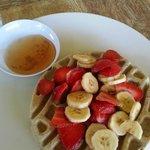 Gluten Free Waffle with Fruit!