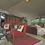 One of six tented suites