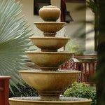 Fountain next to reception