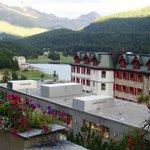 Vista da encantadora St Moritz