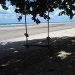 Walking along Klongprao beach