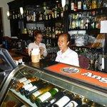 Friendly bar staff