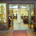 Entrance to hotel and reception area