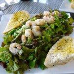 Shrimp Salad with Garlic Bread