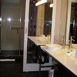 Large, comfortable bathroom area, very user-friendly