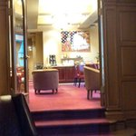 View from the lobby into the dining room.