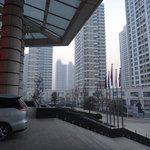 ホテル周辺のマンション群
