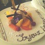 Création de dessert aux fruits pour mon anniversaire