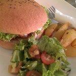 Scrumptious chicken burger