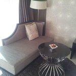 el sofá de la habitación