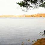 Lakefront gazebo view