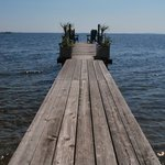 Private dock and the view