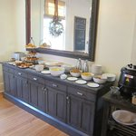 Breakfast bar with fruit, oatmeal, meat & cheese, eggs,