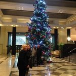christmas Tree in reception of Hotel