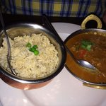 Brown rice and Jholawala Murgh (chicken curry)