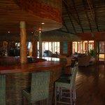 The bar at Flamingo Bay