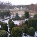 View from guest room over the landscaped garden