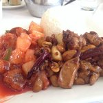 Kung Pao and sweet and sour chicken