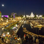 Victoria's Inner Harbour at night