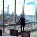Reception place on the 46th floor and the views to the WTC and the Statue of Liberty