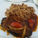 jerk pork with brown rice